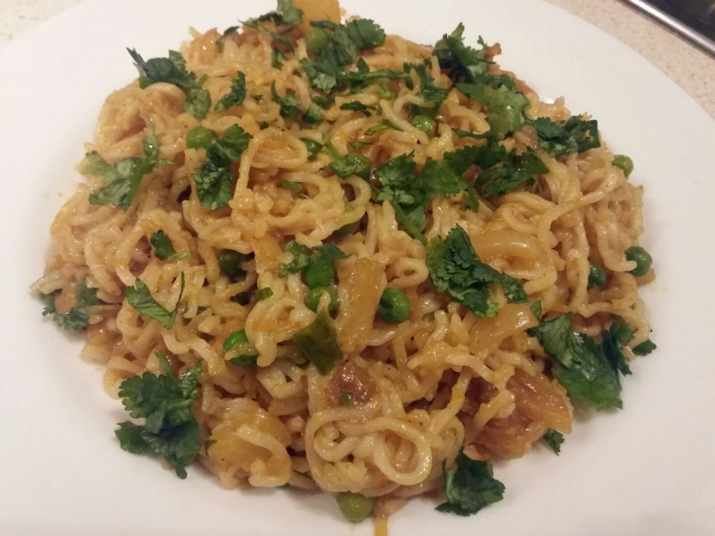 Maggi With Fried Vegetables : Iconic Snack