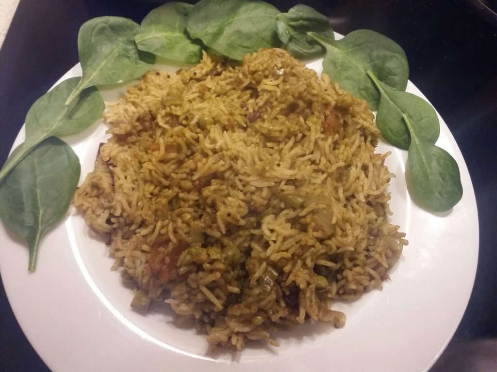 Spinach Rice - Healthy Recipe