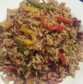 Tricolour Capsicum Masala Fried Rice - Healthy Recipe!