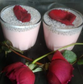 sabza seeds rose drink