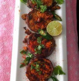 Grilled Garlic Baingan Bhaja - Tasty Snacks
