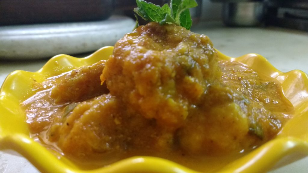 Steam Bottle Gourd Kofta - Tasty Curry!