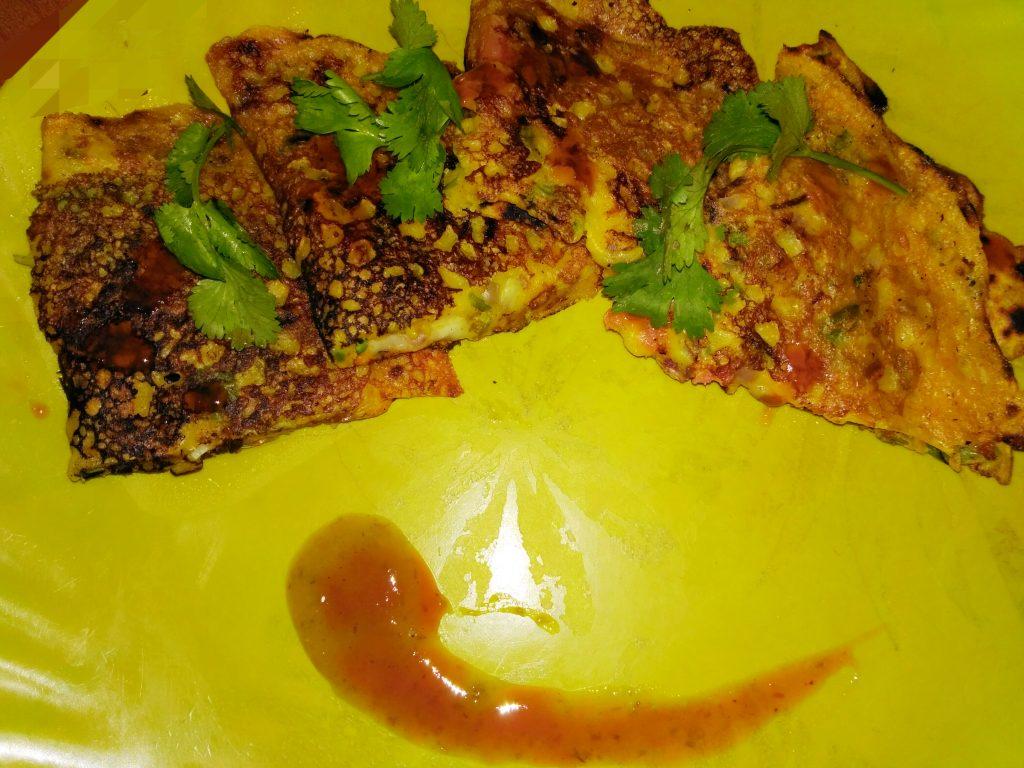 Veggie Besan Cheela with Cheese - Yum