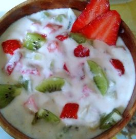 Strawberry Kiwi Raita - Delicious