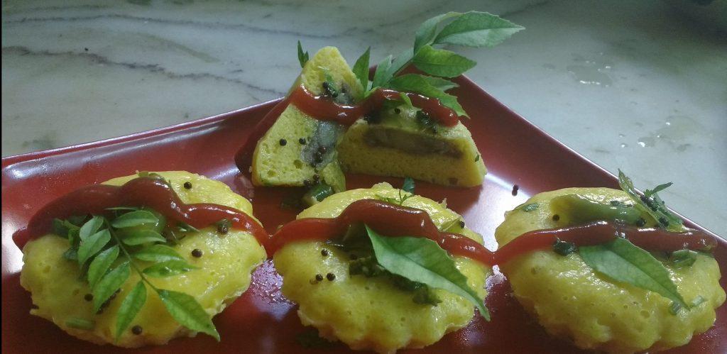 Stuffed Muffin Dhokla - Yummy Breakfast