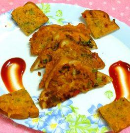Vegetarian Omelette Toast - Tasty Breakfast