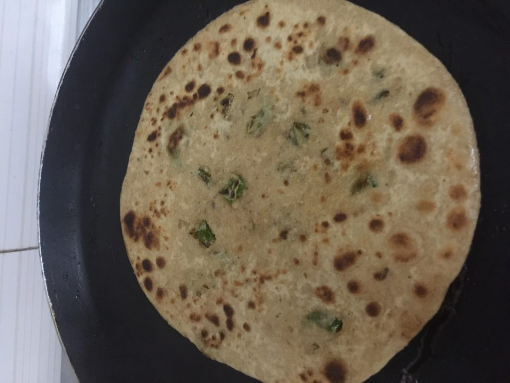 Green Chili Paratha - Quick and Healthy Bite!