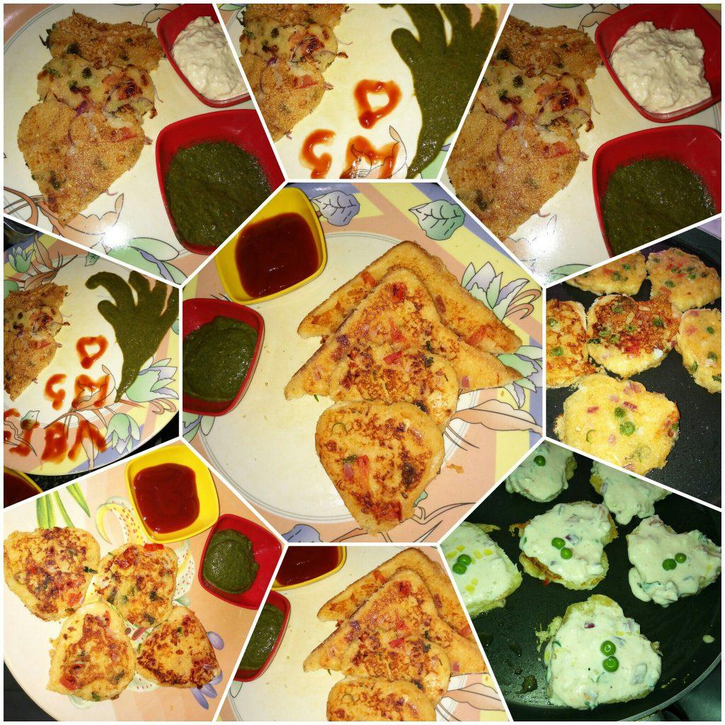 Vegetable Bread Omelette - Tasty Breakfast