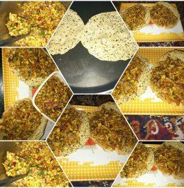 Mumbai Style Papad Bhel- Spicy Snacks