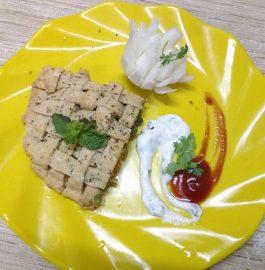 Multigrain Baked Pizza Paratha - Yummy!