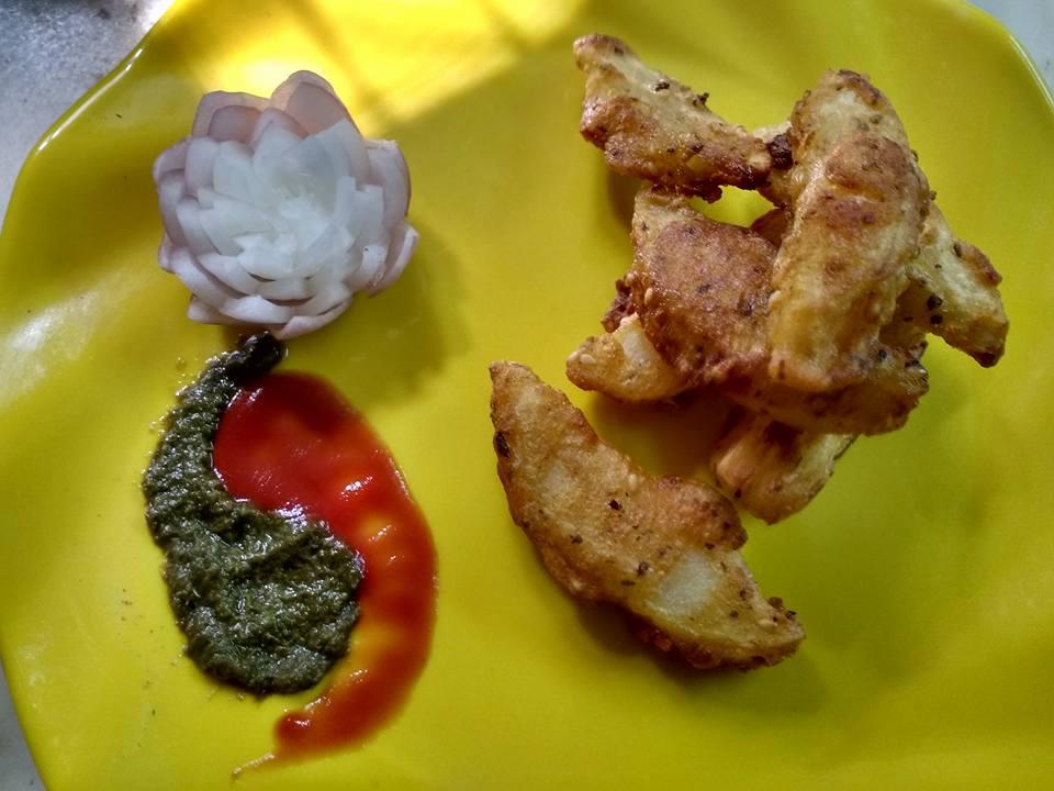Fried Potato Wedges - Tasty Appetizer!