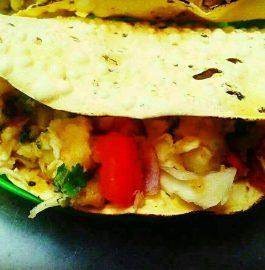 Papad Veggie Tacos - Quick & Crispy