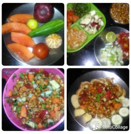 Chana Sprout Chat - Healthy Breakfast!!