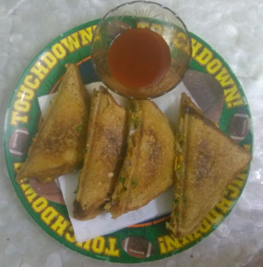 Grilled Veg Sandwich - Healthy Breakfast!