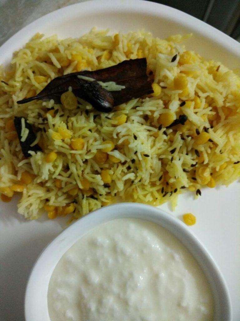 Chana Daal Khichdi - Healthy!