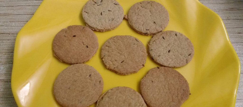 Wheat Flour Jeera Biscuits - Kids favorite!!