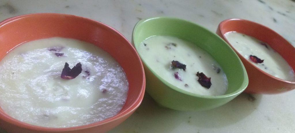 Rose Flavored Baked Yoghurt - Refreshing Dessert!