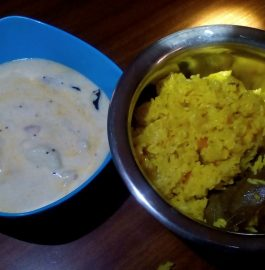 Quick Tehri With Aloo Raita - Summer Special Meal!!