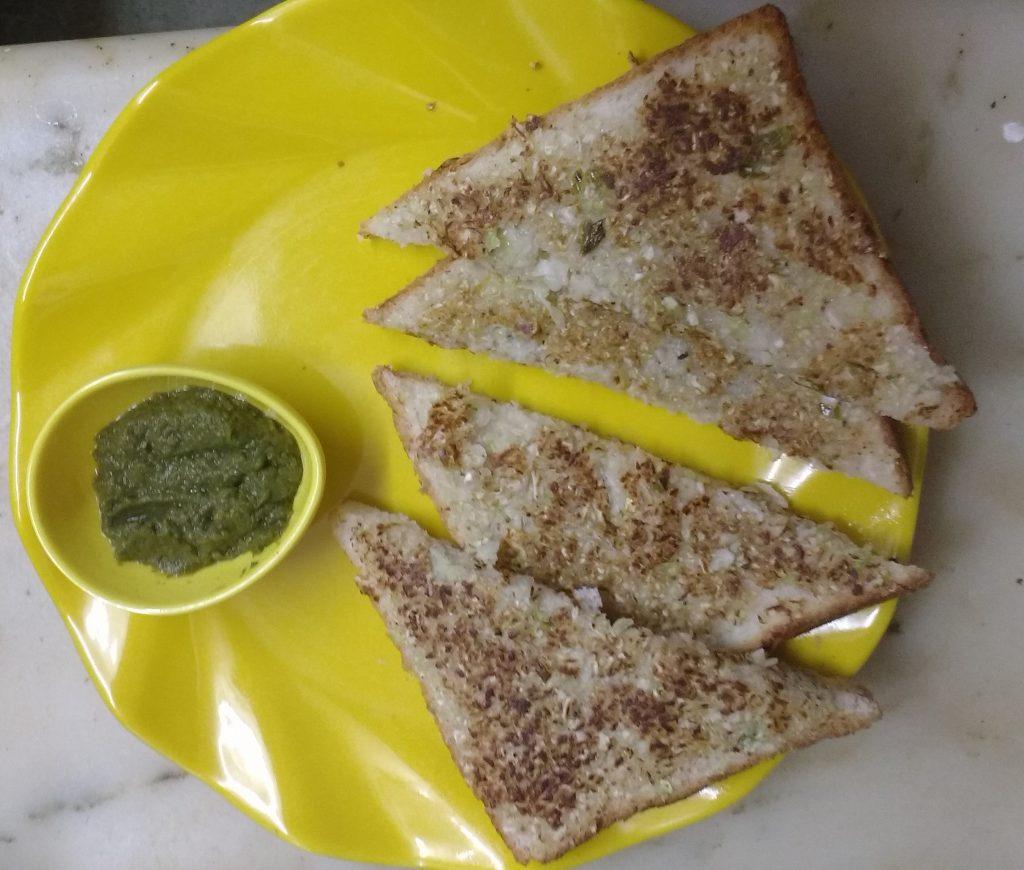 Cabbage malai open sandwich recipe
