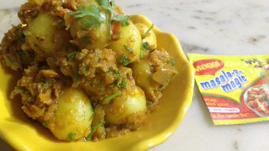 Maggie Masala Baby Potatoes - Yummy!