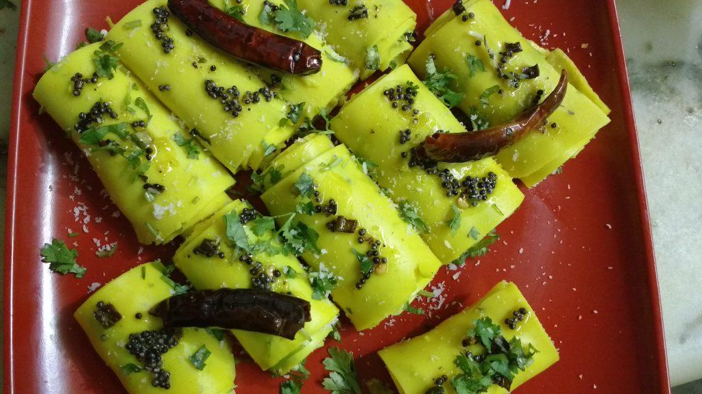 Moong Dal Khandvi - Gujarati Snack