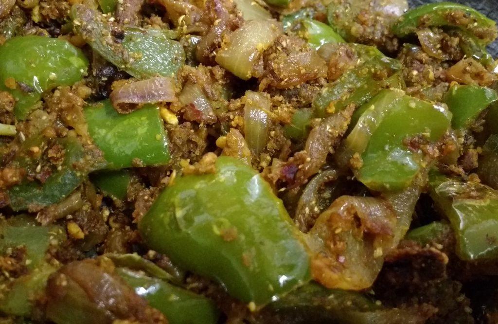 Shimla Mirch Do Pyaza-Tasty Capsicum Curry