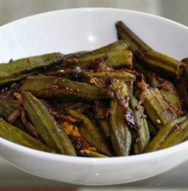 Stuffed Okra in Maharashtrian Style - Yummy!