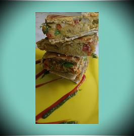 Besan Mughali Paratha - Delicious!