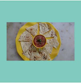 Papad Nachos With Tomato Salsa - Yummy!