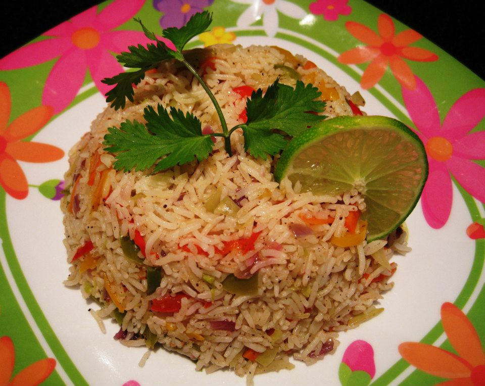 Stir Fried Rice With Vegetables - Healthy Recipe!