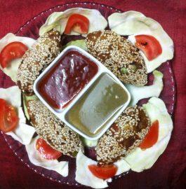 Sesame Seeds Mix Veg Rolls - Healthy Snacks!