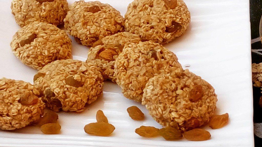 Banana Oats Cookies : 3-Ingredient Recipe