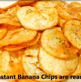 Banana Chips - Crispy Snacks in 10 minutes