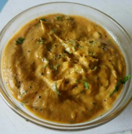 Brinjal Chutney With Tadka - Spicy Treat