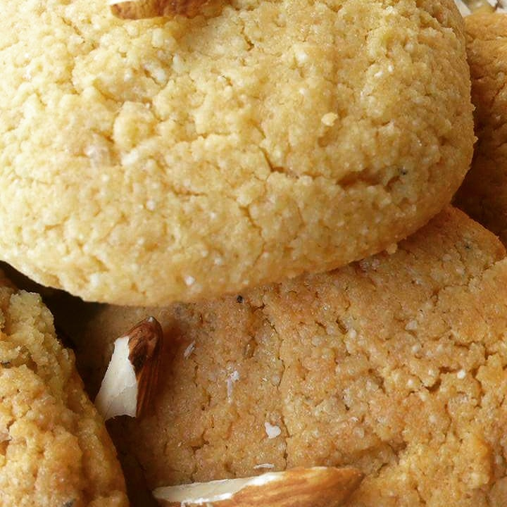 Whole Wheat Almond Cookies Recipe