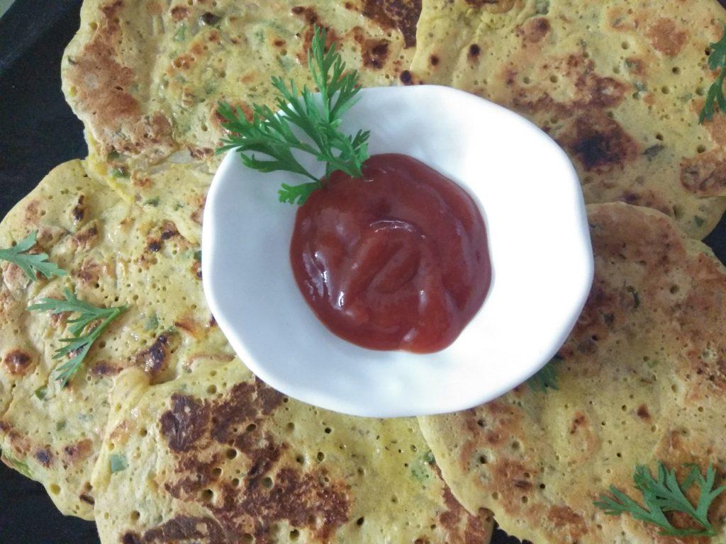 Veggie Besan Cheela - Super Tasty