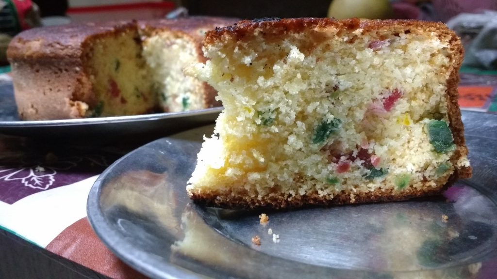 Tutti Frutti Cake Without Oven Recipe