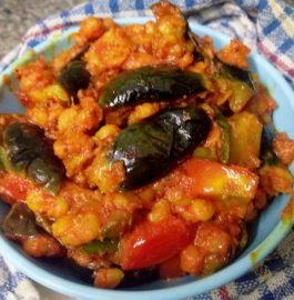Baigan Chana Dal Dry Sabzi - Delicious