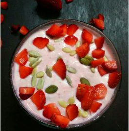 Strawberry Shrikhand - Delicious Sweet Dish