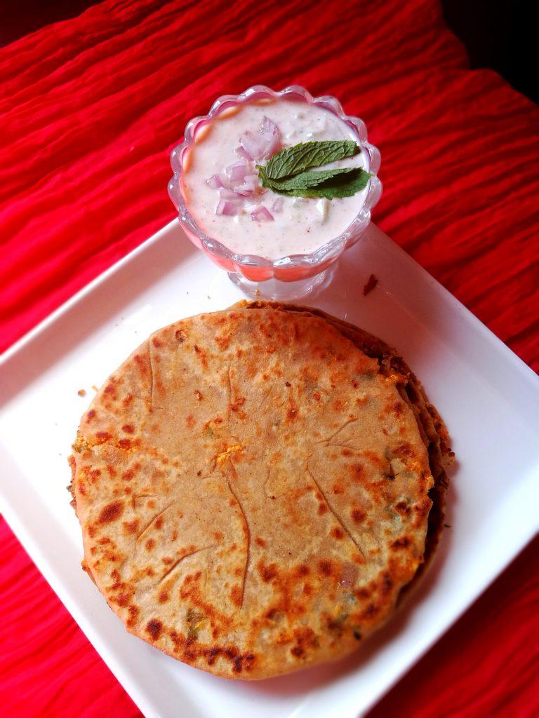 Paneer Mix Veggies Paratha - Yummy Bite