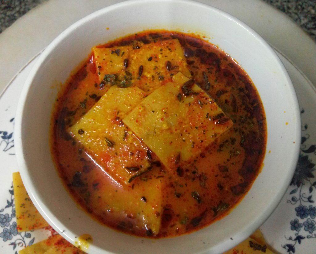 Pittod ki Sabzi - Rajasthani Special Curry