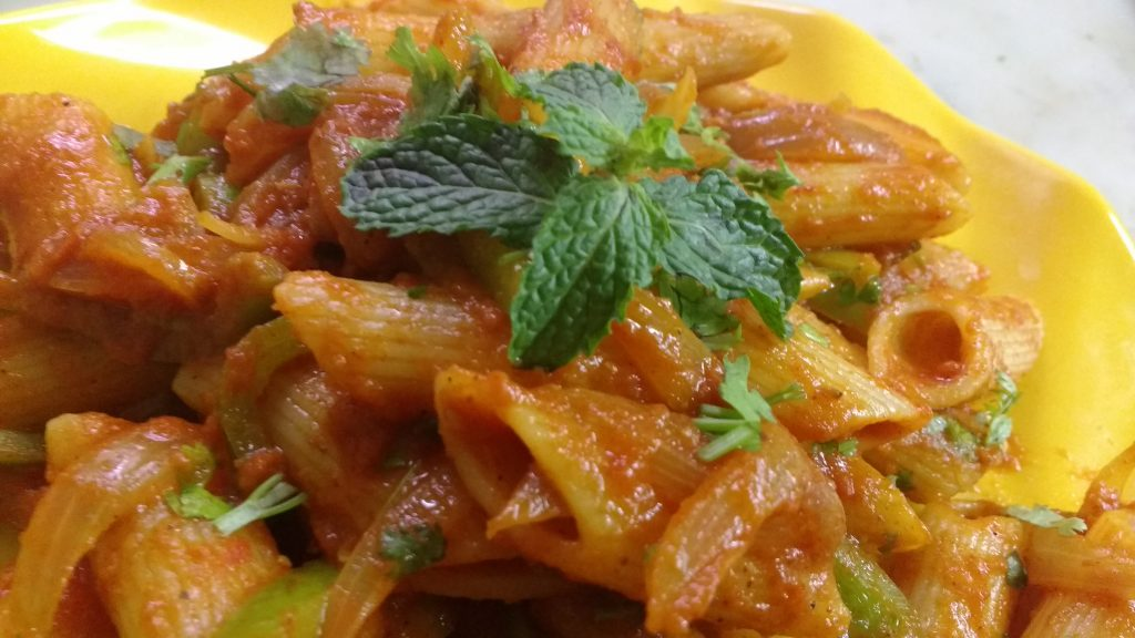 Pasta With Red Sauce - Delicious Meal