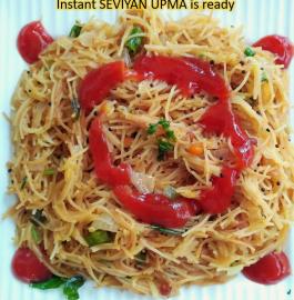 Seviyan Upma - Instant breakfast in 10 minutes