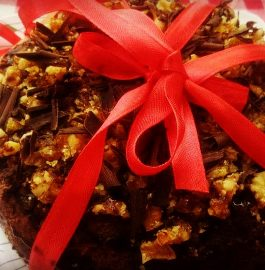 Caramel Nut Cake : Delicious and Eggless