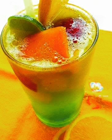 Mixed Fruits With Lemon – Yummy Mocktail