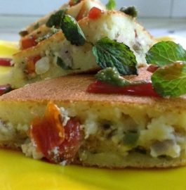 Mixed Dal Stuffed Pancakes - Nutritious Breakfast