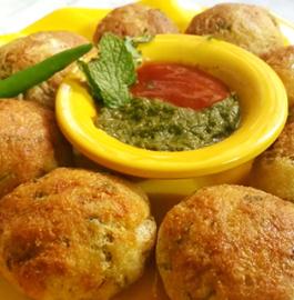 Stuffed Baked Rava Cutlets