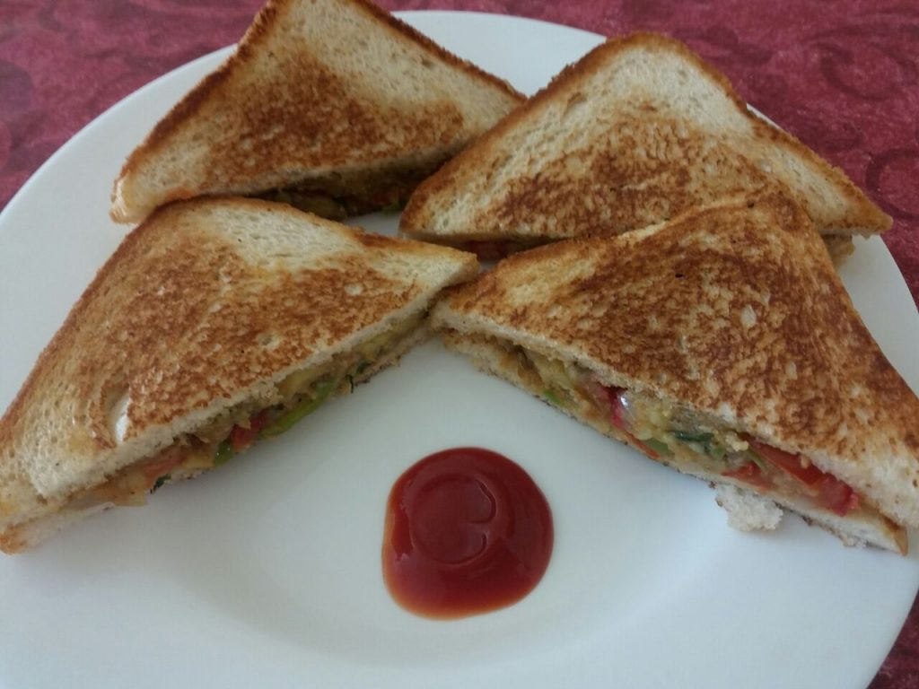 Tawa Sandwich - Yummy And Quick Breakfast