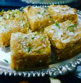 Besan Coconut Barfi Recipe