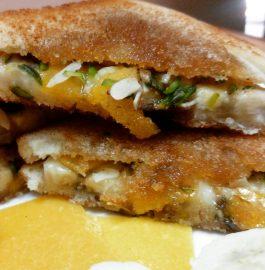 Banana And Aam Papad Sandwich Recipe